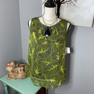 NWT Liz Claiborne small 2 piece Top Tropical